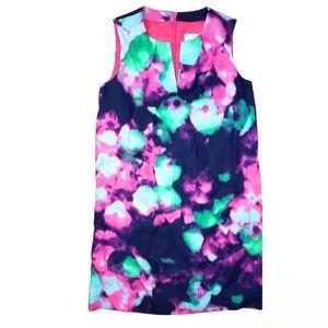 Kate Spade Multi-Colored Dress SZ 10 Hot Pink Zip